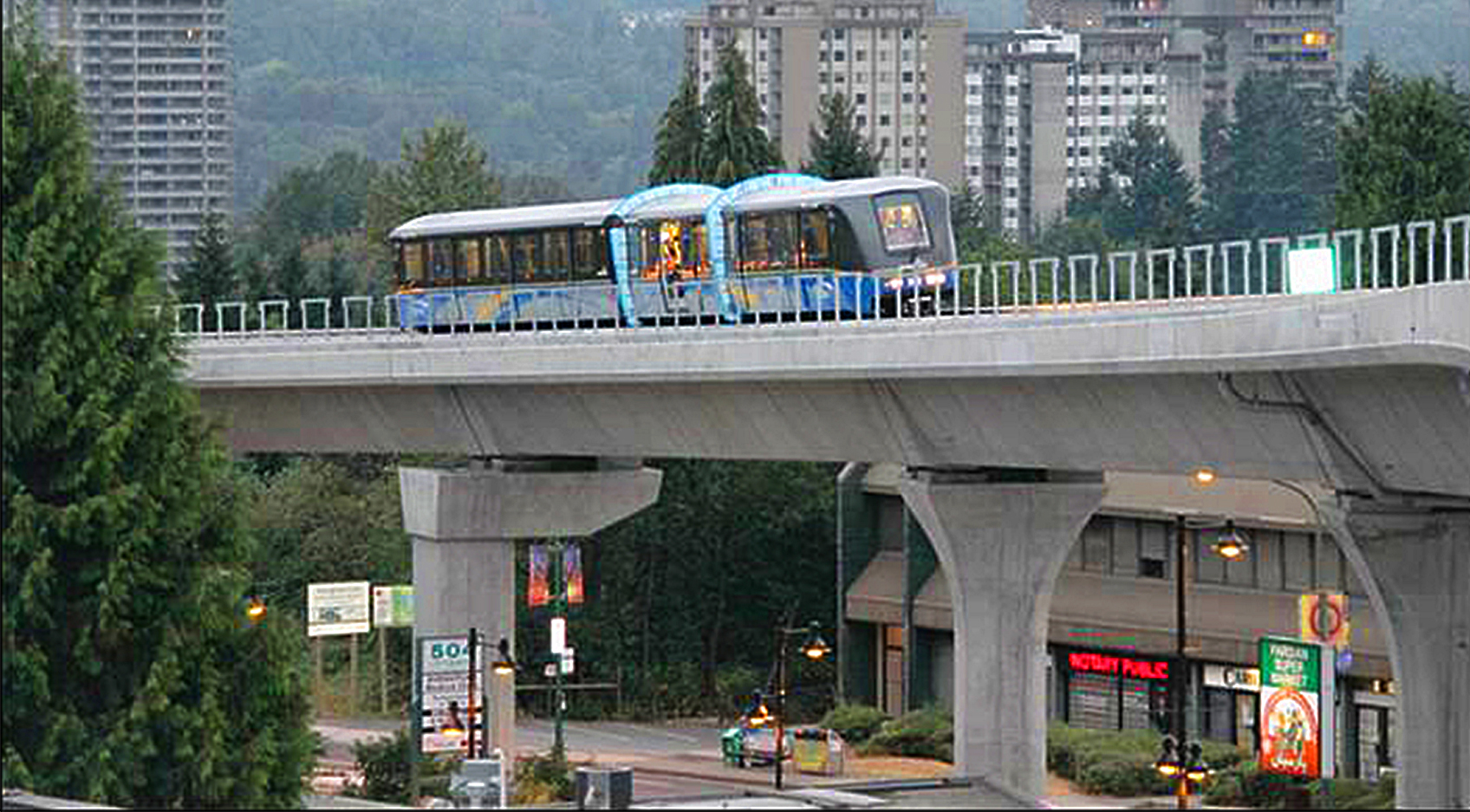 VANCOUVER SKY TRAIN EVERGREEN LINE
